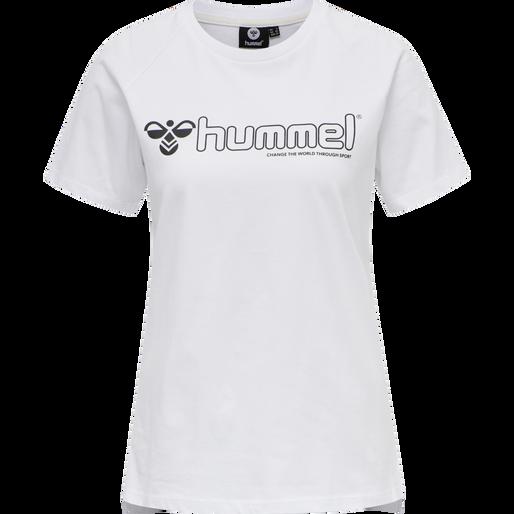 hmlZENIA T-SHIRT S/S, WHITE, packshot