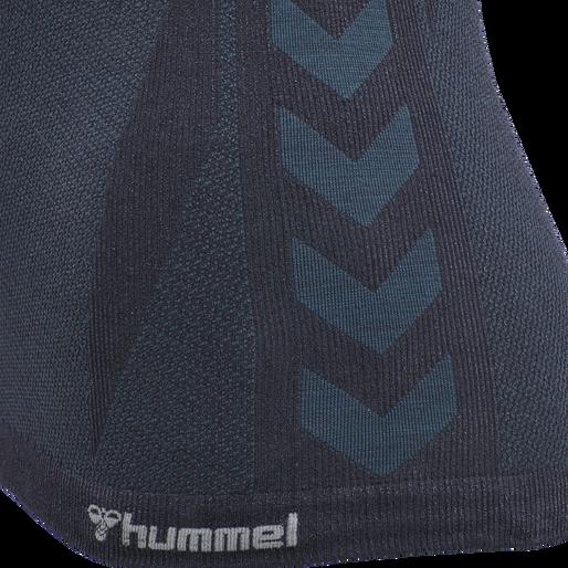 hmlCLEA SEAMLESS TOP, BLUE NIGHTS MELANGE, packshot