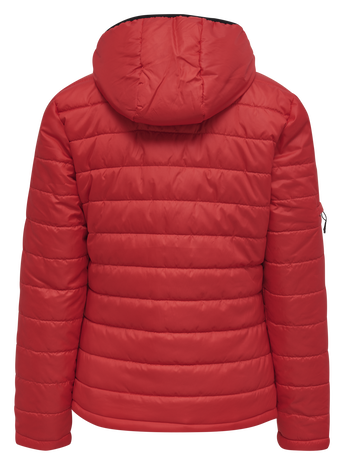 hmlNORTH QUILTED HOOD JACKET WOMAN, TRUE RED, packshot
