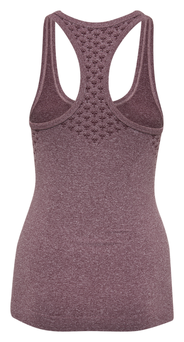 CLASSIC BEE CI SEAMLESS TOP, FIG MELANGE, packshot