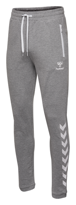 HMLRAY PANTS, GREY MELANGE, packshot