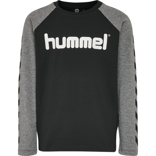 hmlBOYS T-SHIRT LS, BLACK, packshot