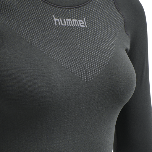 HUMMEL FIRST SEAMLESS JERSEY L/S WOMAN, DARK GREY/LIGHT GREY, packshot