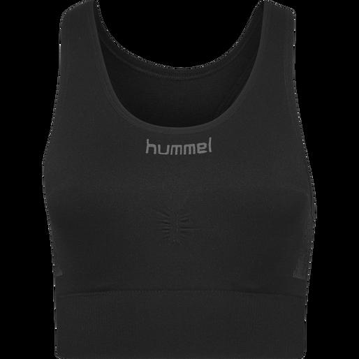 HUMMEL FIRST SEAMLESS BRA WOMEN, BLACK, packshot