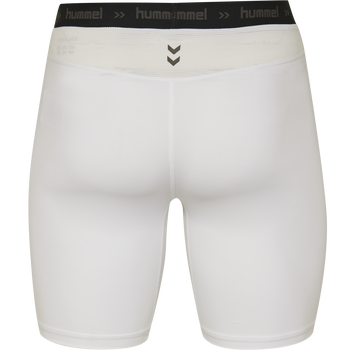 HUMMEL FIRST PERFORMANCE TIGHT SHORTS, WHITE, packshot