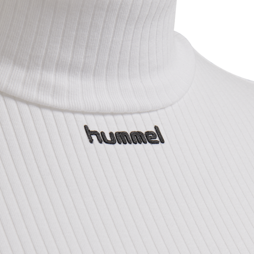 hmlCAROLINE RIB TURTLENECK S/S, WHITE, packshot