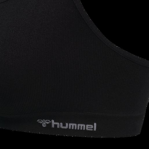 hmlJUNO SEAMLESS BRA, BLACK, packshot