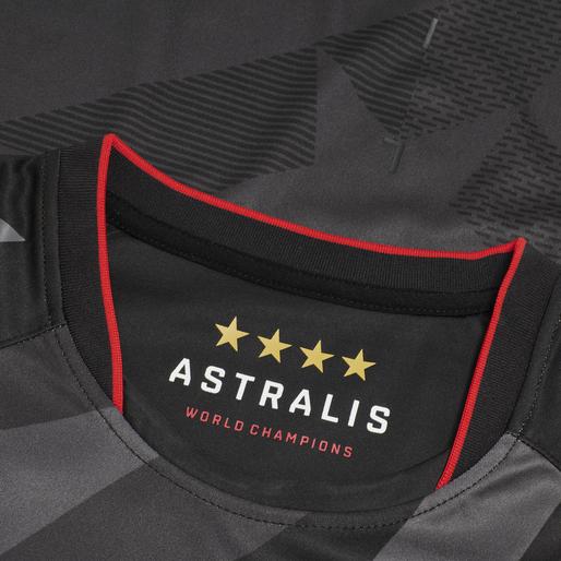 ASTRALIS 20/21 GAME JERSEY S/S, BLACK W/LOGO, packshot