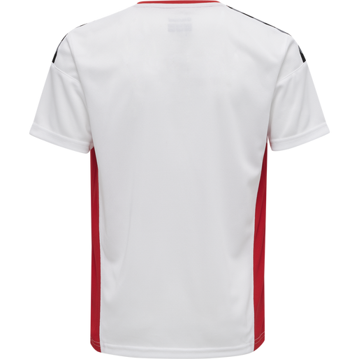 hmlAUTHENTIC KIDS POLY JERSEY S/S, WHITE/TRUE RED, packshot