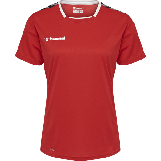 hmlAUTHENTIC POLY JERSEY WOMAN S/S, TRUE RED, packshot