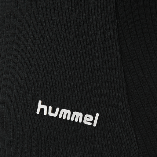 hmlMAI RIB BODY S/S, BLACK, packshot