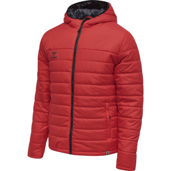 hmlNORTH QUILTED HOOD JACKET, TRUE RED, packshot
