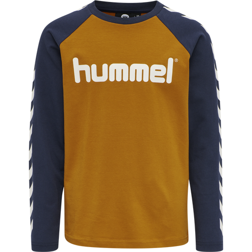 hmlBOYS T-SHIRT LS, PUMPKIN SPICE, packshot