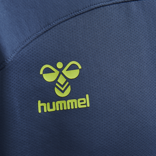 hmlLEAD HALF ZIP, DARK DENIM, packshot