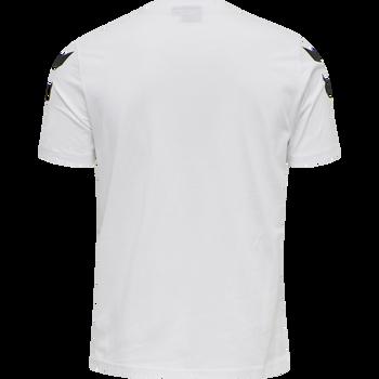 hmlLEGACY CHEVRON T-SHIRT, WHITE, packshot