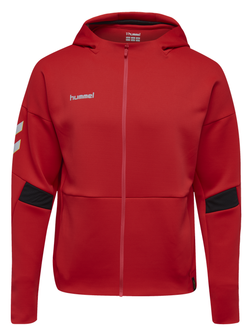 TECH MOVE ZIP HOOD, TRUE RED, packshot