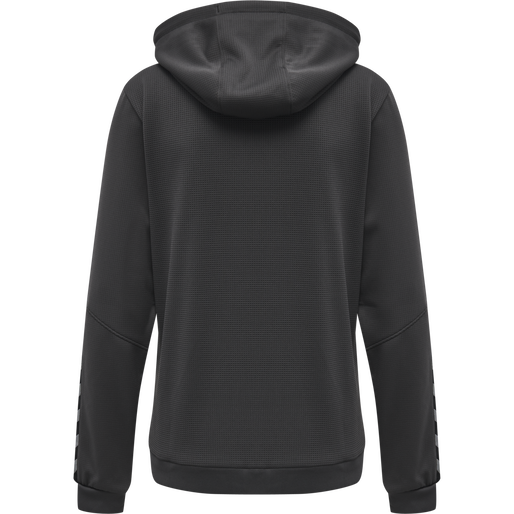 hmlAUTHENTIC POLY ZIP HOODIE WOMAN, ASPHALT, packshot