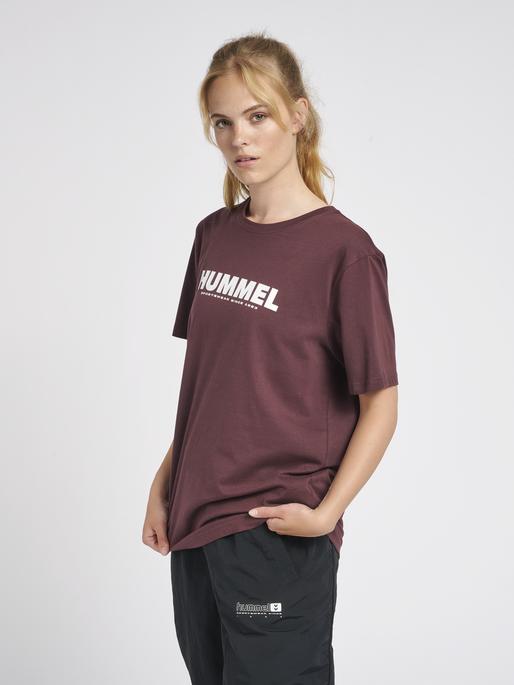 hmlLEGACY T-SHIRT, FUDGE , model