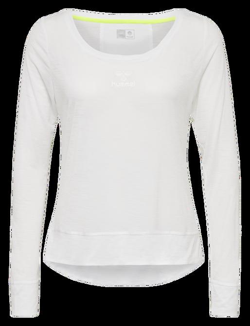 hmlSUNNY T-SHIRT L/S, WHITE, packshot