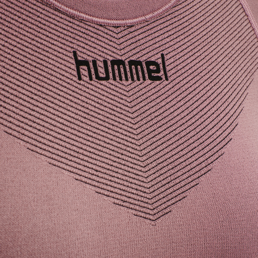 HUMMEL FIRST SEAMLESS JERSEY S/S WOMAN, DUSTY ROSE, packshot