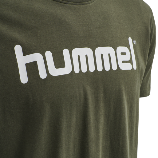 HUMMEL GO COTTON LOGO T-SHIRT S/S, GRAPE LEAF, packshot