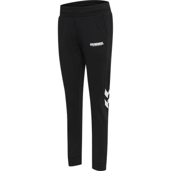 hmlLEGACY WOMAN TAPERED PANTS, BLACK, packshot