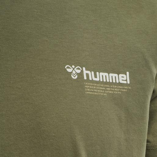 hmlKIRBY T-SHIRT, BURNT OLIVE , packshot