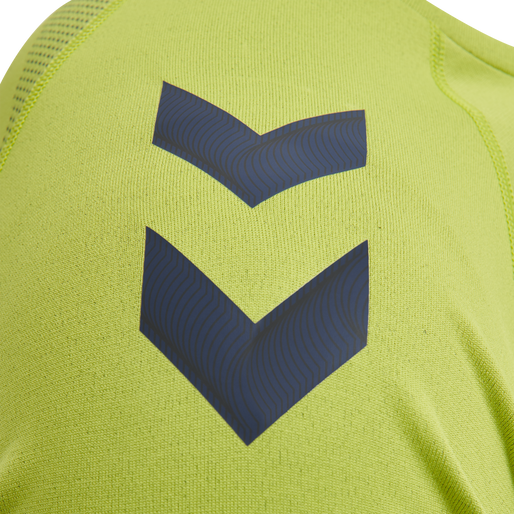 hmlLEAD PRO SEAMLESS TRAINING JERSEY, LIME PUNCH, packshot