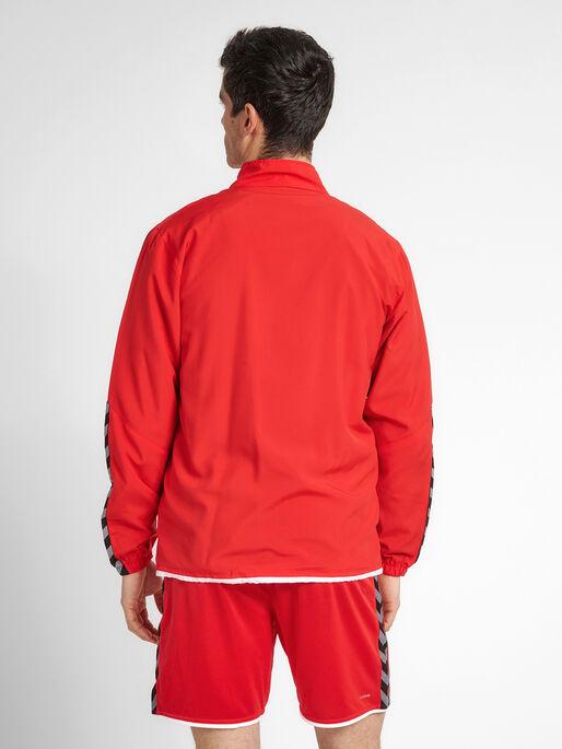 hmlAUTHENTIC MICRO JACKET, TRUE RED, model