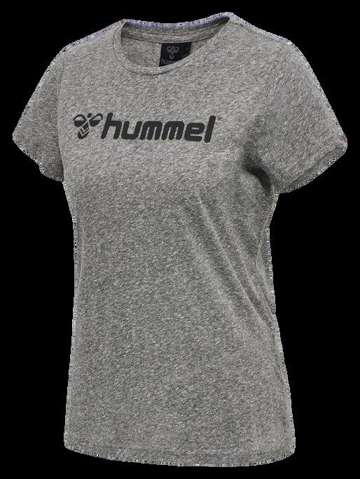 HMLAMALSA T-SHIRT S/S TEE, DARK GREY MELANGE, packshot