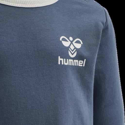 hmlMAUILINO T-SHIRT L/S, CHINA BLUE, packshot
