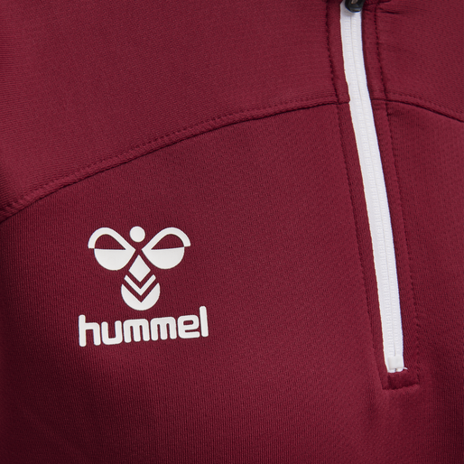 hmlLEAD WOMAN HALF ZIP , BIKING RED, packshot