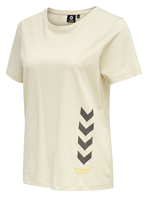 hmlGLORIA T-SHIRT , BONE WHITE, packshot