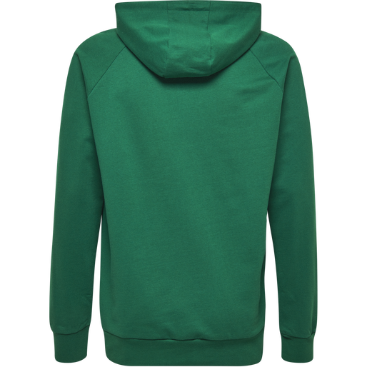 HUMMEL GO KIDS COTTON LOGO HOODIE, EVERGREEN, packshot