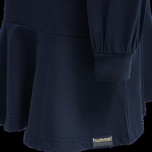 hmlBEVERLY HOODIE DRESS, BLACK IRIS, packshot