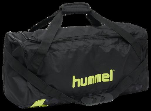 hmlACTIVE SPORTSBAG, BLACK/SULPHUR, packshot