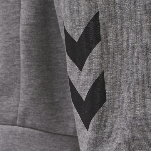 hmlACTIVE KIDS COTTON HOODIE, DARK GREY MELANGE, packshot