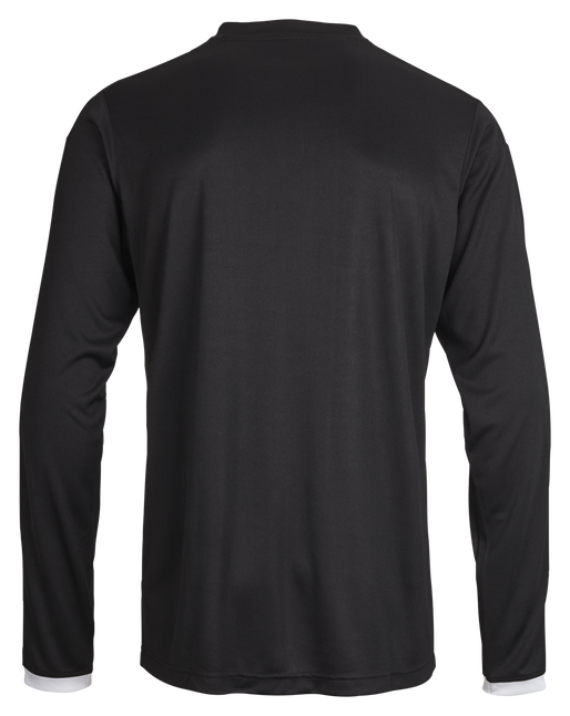 CORE LS POLY JERSEY, BLACK PR, packshot
