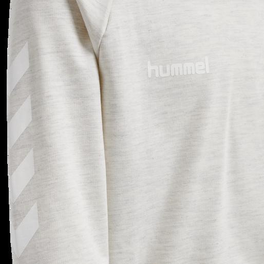 HUMMEL GO KIDS COTTON HOODIE, EGRET MELANGE, packshot