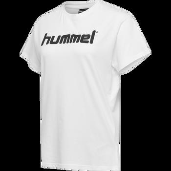 HUMMEL GO COTTON LOGO T-SHIRT WOMAN S/S, WHITE, packshot