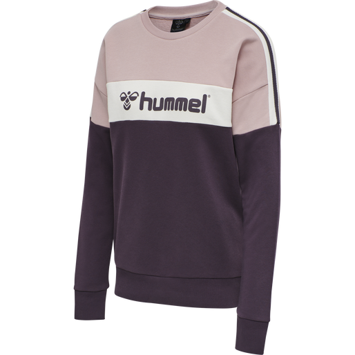 HMLAGNES SWEAT SHIRT, BLACKBERRY WINE, packshot
