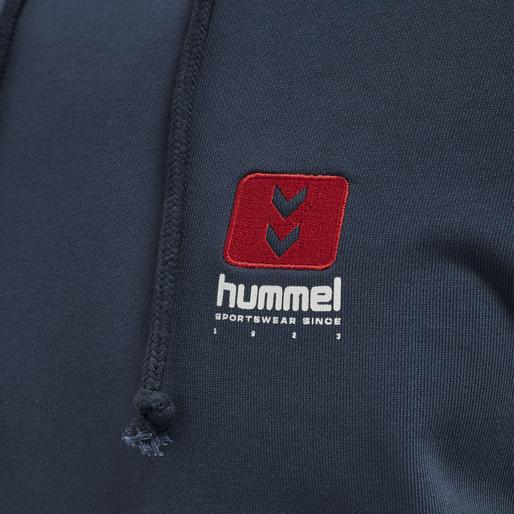 hmlLGC GRAHAM HOODIE, BLUE NIGHTS, packshot