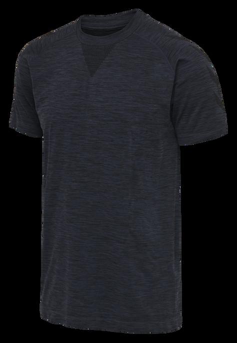 hmlWES SEAMLESS T-SHIRT S/S, BLACK IRIS, packshot