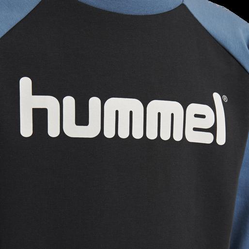 hmlBOYS T-SHIRT LS, BLACK/STELLAR, packshot