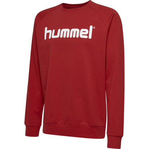 HUMMEL GO KIDS COTTON LOGO SWEATSHIRT, TRUE RED, packshot
