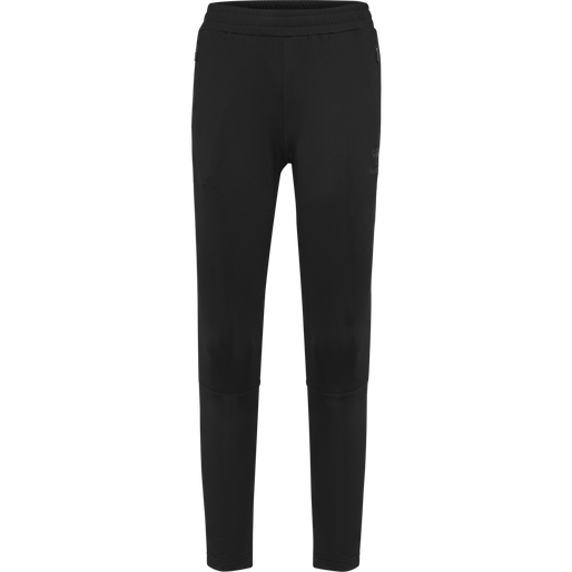 hmlSELBY TAPERED PANTS, BLACK, packshot