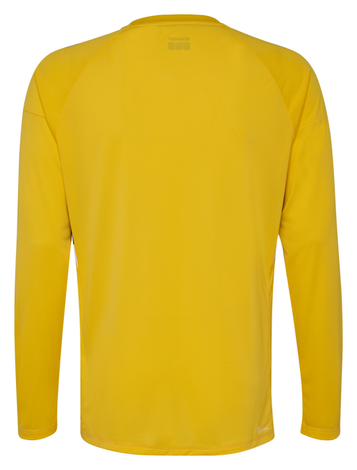 TECH MOVE KIDS JERSEY L/S, SPORTS YELLOW, packshot