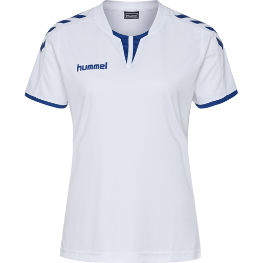 CORE WOMENS SS JERSEY, WHITE/TRUE BLUE, packshot