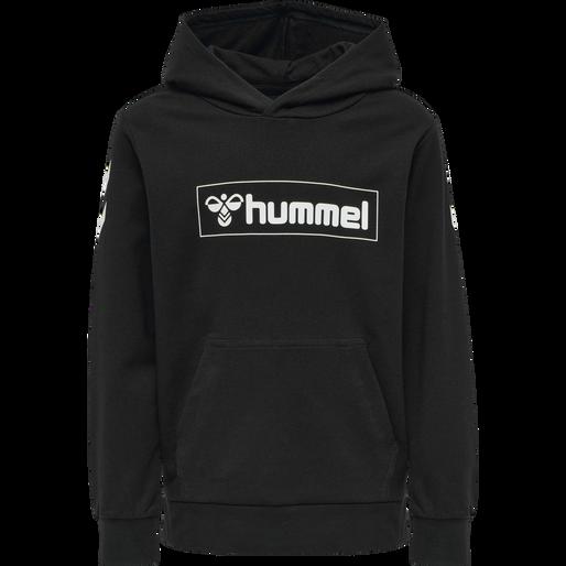 hmlBOX HOODIE, BLACK, packshot