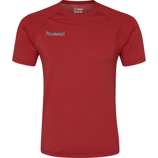 HUMMEL FIRST PERFORMANCE KIDS JERSEY S/S, TRUE RED, packshot
